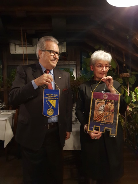 A friend Luciano exchanged flags with RCSID President Zeljka Mudrovcic