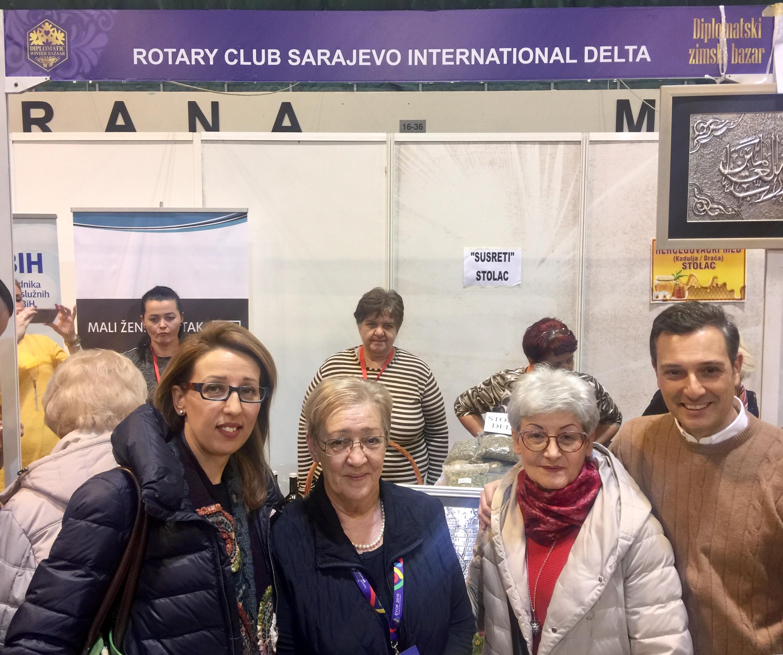 RCSID members enjoyed visiting NGOs Susreti from Stolac and Mali Zenski Kutak from Prozor<br>